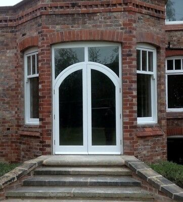Hardwood Arched French Doors with fanlight! Made to Measure!!! Bespoke!!!