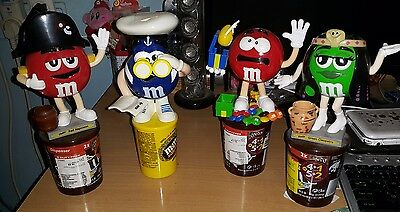 Lot of 4 M&M Candy Dispensers