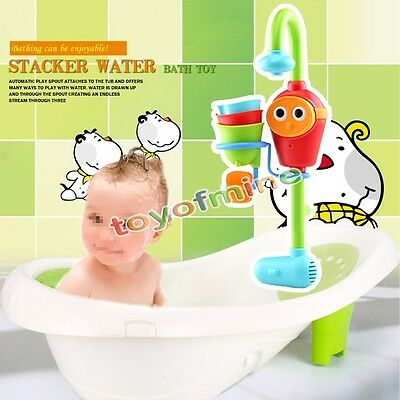 New Kids Baby Infant Gift Funny Cartoon Flow 'N' Fill Spout Bath Learning Toy