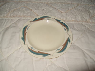 C4 Pottery Susie Cooper Blue Leaf Side Plate 17cm 6A3B