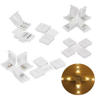 2/4pin 8/10MM T L X Shape Adapters Connectors For 3528 5050 5630 LED Strip Light