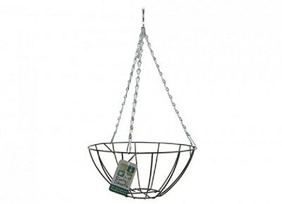 """Wholesale-Resellers-30 X ORNAMENTAL 10"""" HANGING BASKET  & CHAIN IN GREEN"""