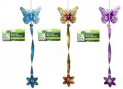 Wholesale-Resellers-24 X BUTTERFLY METALLIC WIND  SPINNER