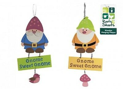 Wholesale-Resellers-12 X WOODEN GNOME HANGING PLAQUE