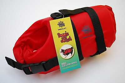 Dog Pet Life Jacket Float Swimming Buoyancy Aid Adjustable Up to 5kg Small Red