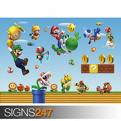 Super Mario Bros Giant XL Section Wall Art Poster VG126