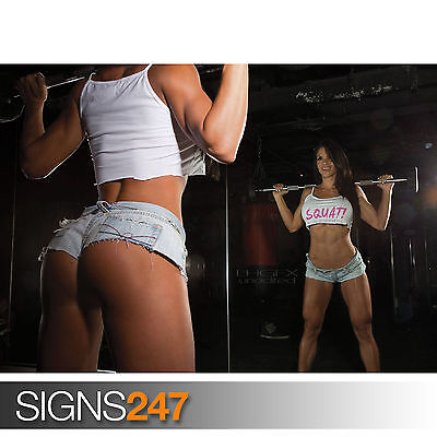 MICHELLE LEWIN - SEXY MODEL BODYBUILDER FITNESS GIRL (1109) Poster Print