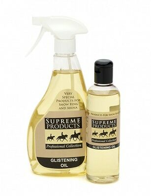 Supreme Products Glistening Oil Showing Grooming Horse Pony 250ml or 500ml