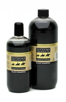 Supreme Products Black Shampoo Horse Pony Showing Grooming 500ml