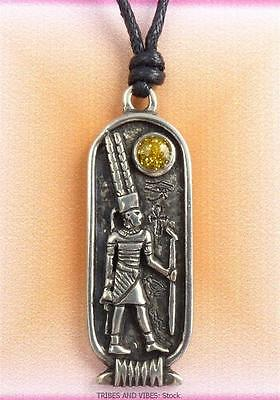 AMUN Egyptian Zodiac Pendant Necklace 26 April to 25 May Taurus Gemini Jewellery