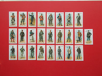 Full Set Of 25 Repro Cigarette Cards - Uniforms By Cope's