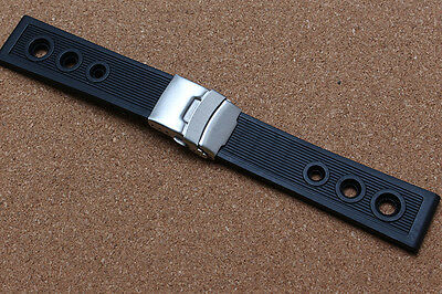 22mm rubber silicone watch strap band for Breitling avengers Superocean Héritage