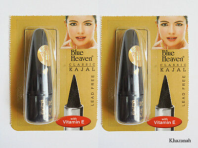 2x Black EYELINER KAJAL, Indian Cosmetic, No Chemical, Lead Free