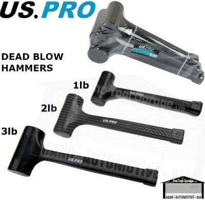 US PRO Tools 3pc Rubber Dead Blow Hammers, Hammer 1lb 2lb 3lb Set NEW 1664
