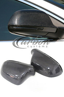 NEW audi A4 S4 08-14 A4 B8 carbon fibre wing mirror covers OEM FITTING (PAIR)