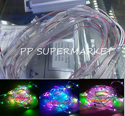 10~1000x WS2812B Pre-wired LED Pixel Module String Light Full Color 5050 RGB 5V