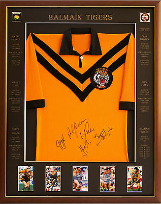 Blazed In Glory - Balmain Tigers - Balmain 5 - NRL Signed and Framed Jersey