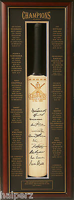 Blazed In Glory - The Champions of Cricket -  Hand Signed Cricket Bat