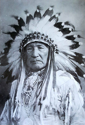 """Vintage Photo POSTER 23""""x34"""" Native American Indian Mountain Chief Portrait"""