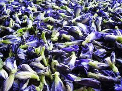 100% PURE, NATURAL DRIED BUTTERFLY PEA. 30g - 1Kg. (Tea & food coloring)
