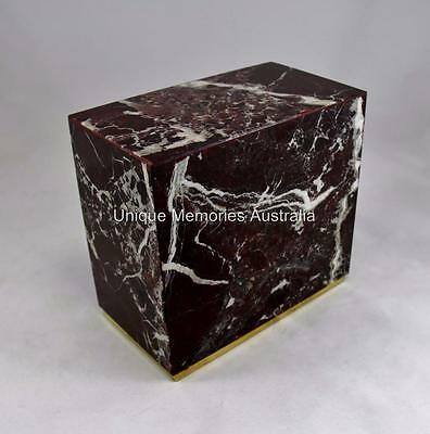 Genuine Solid Marble Cubic Natural Stone Adult Memorial Cremation Cinerary Urn