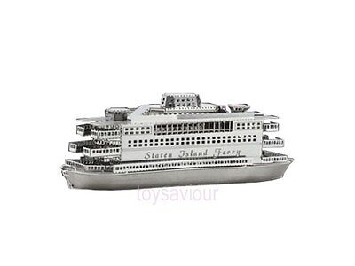 Tenyo 3D Metallic Nano Puzzle Model Kit TMN-07 New York Staten Island Ferry