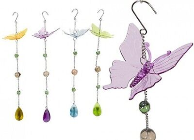 Wholesale-Resellers-24 X HANGING BUTTERFLY JEWEL  DECORATION
