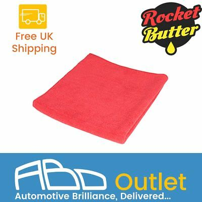 Rocket Butter Softie Car Motorbike Microfibre Cloth - Red (10 Pack)
