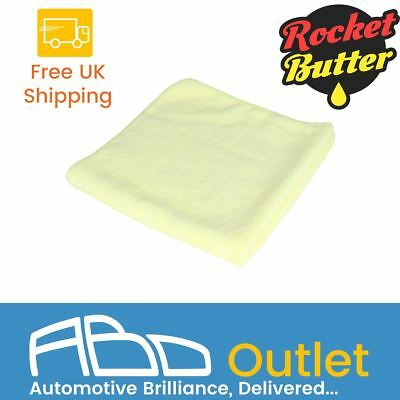 Rocket Butter Softie Car Motorbike Microfibre Cloth - Yellow (3 Pack)