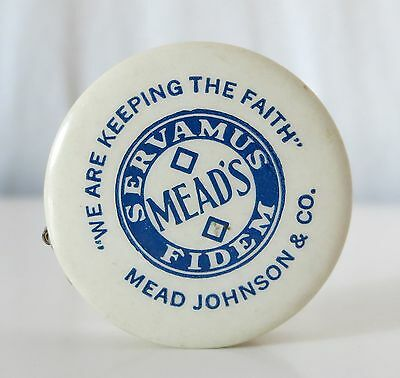 Mead's Pablum Pabena Celluloid Vintage Sewing Tape Measure Mead Johnson & Co