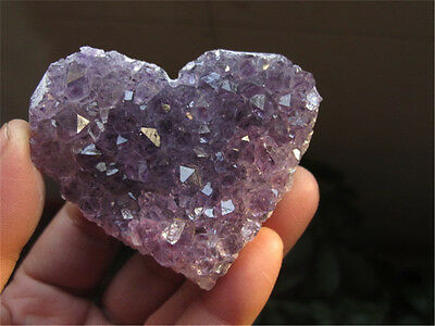 Large High Quality Amethyst Cluster Heart from Brazil - Gem of Peace