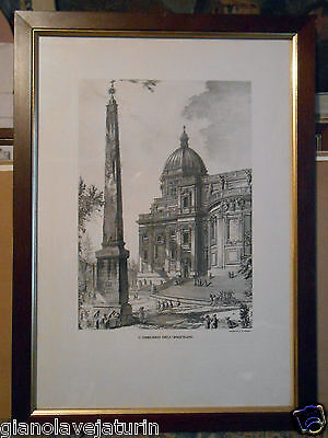 "Antica Ed Importante Incisione Di G.b.piranesi ""l'obelisco Dell'esquilino"""