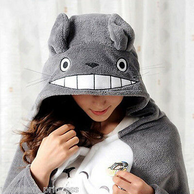 Anime Cosplay Totoro Ghibli Costume Cloak Shawl Cape