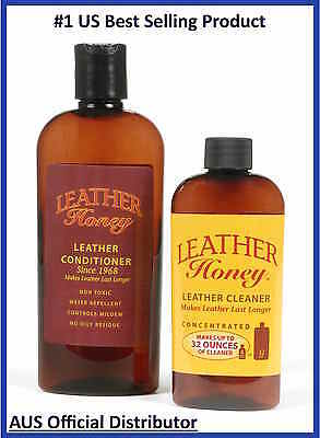 Leather Honey Cleaning KIT Conditioner & Cleaner Leather Care Kit Shoes Car Bags