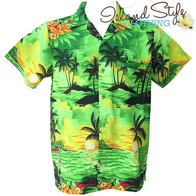 Green Sunset Boys Hawaiian Shirt | Cruise Australia Day