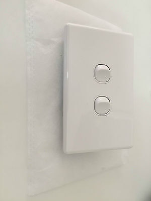 10 x 2 Gang SLIM White Electric Light Switch SAA