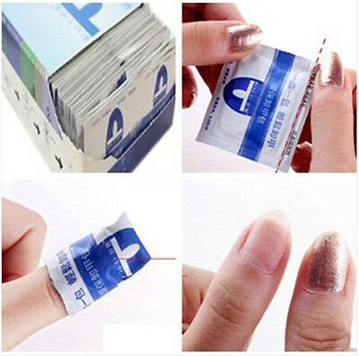 Hot Sell 20Pc Gel Lacquer Nail Polish Foil Remover Cleaner Wraps Acetone Kit