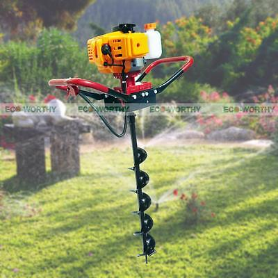 """ECO 2.2 HP Gas Powered Post Hole Digger W/ 8"""" Auger Drill Bit 49CC Power Engine"""