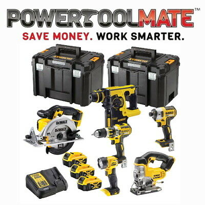 Dewalt DCK699M3T 6 Piece Power Tool Kit + 3x 4Ah Batteries