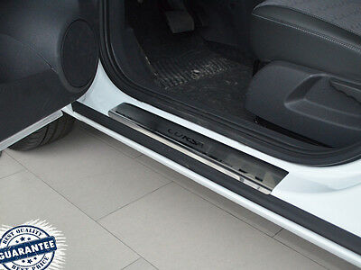OPEL CORSA D 5D 2006-2014 Stainless Steel Door Sill Guard Cover Scuff Protectors