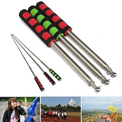 2M Flagpole Guide Portable Extendable Flag Windsock Pointer Banner Telescopic