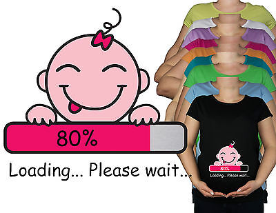 New Maternity Pregnancy 10 - 20 Cotton Funny Baby Loading Top Tunic T-Shirt