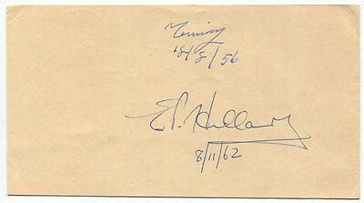 Sir Edmund Hillary and Tenzing Norgay Signed Card