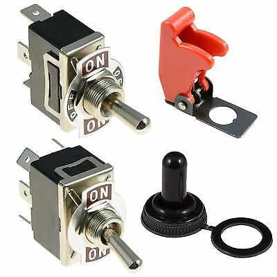 Standard Toggle Switch + Cover 10A SPST SPDT DPST DPDT