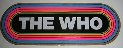 KLOS Rainbow Decal/Sticker -THE WHO- The First Concert Decal!