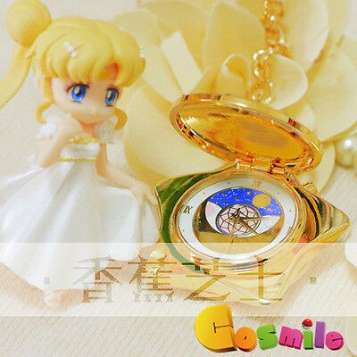 Sailor Moon 20th Anniversary Pocket Watch Music Box Cos Gift Golden Color