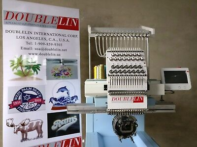 NEW,compact embroidery machine, single head, 15 needles, New Style, Cap, T-shirt