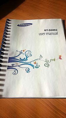 Samsung Galaxy Ace Duo Gt-S6802 Printed Instruction Manual Guide 142 Pages A5