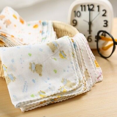 30 Pcs Cotton Baby Feeding Gauze Muslin Squares Washcloth Bibs