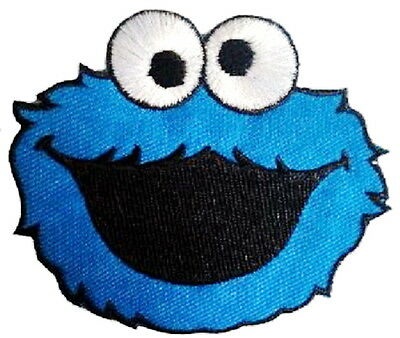 """Cookie Monster Iron On Sew On Cartoon Kids Muppets Embroidered Badge Patch 3.4"""""""